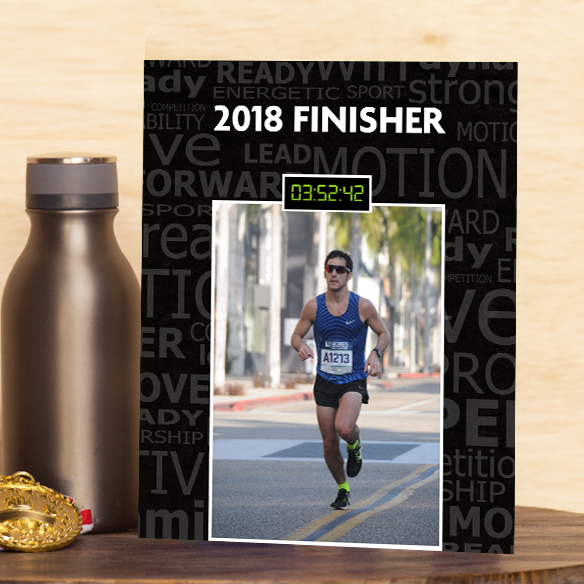 Finish Time Custom Photo